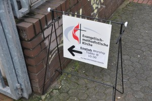 sign to church
